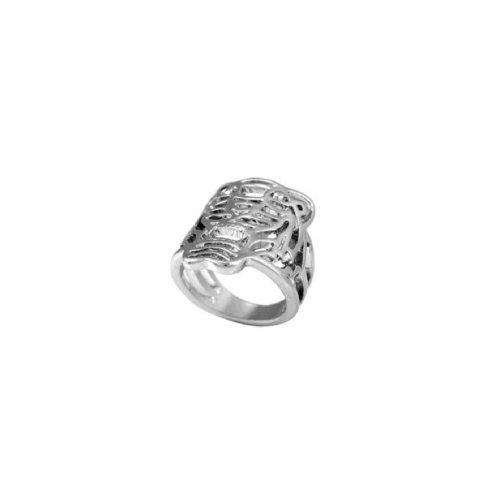 HolyPink TM - Original acabados a mano la cara del anillo del tigre del metal de