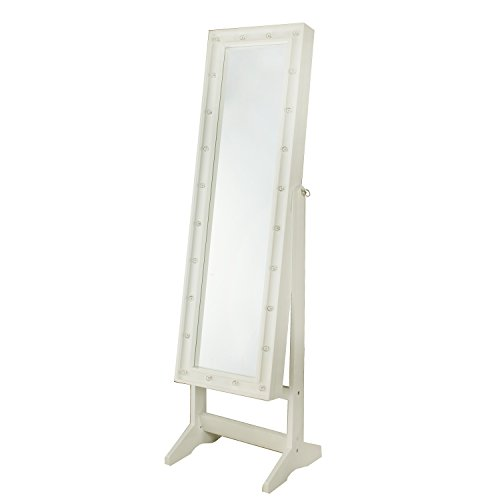 InnerSpace Luxury Products Free Standing Jewelry Armoire with LED Lights, White by InnerSpace Luxury Products