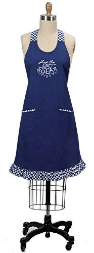 Beach Apron (Kay Dee Designs Open Seas Nautical Embroidered Hostess Apron)