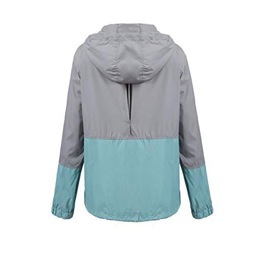 Raincoats Con Trench Blu Giacca Grigio Impermeabile Donna Active ligth Leggera Outdoor Antipioggia Fangcheng Cappuccio 4UqwZdC14c