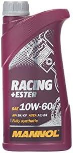 MANNOL Racing+Ester 10W-60 API SN/SM/CF Motorenöl, 1 Liter