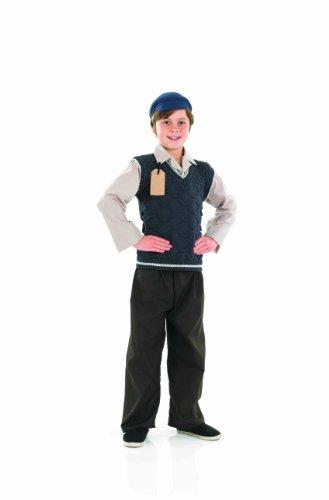 Fun Shack Child Evacuee School Boy Costume - Age 6 - 8 Yrs (m) (Schoolboy Fancy Dress)