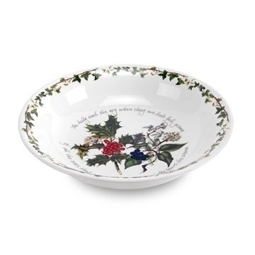 Christmas Holly Pasta Bowls