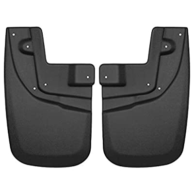 Husky Liners Fits 2005-15 Toyota Tacoma - with OEM Fender Flares and had OEM Mud Guards Custom Front Mud Guards: Automotive