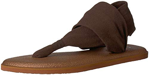 Sanuk Women's Yoga Sling 2 LX Sandal Chocolate Brown/Metallic/Bronze 10 M ()