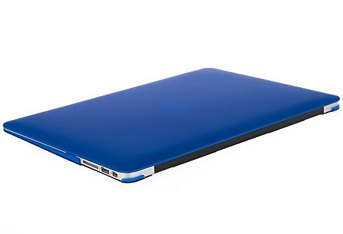 MOSISO Plastic Hard Shell Case & Keyboard Cover Skin & Screen Protector Only Compatible with MacBook Air 11 inch (Models: A1370 & A1465), Royal Blue
