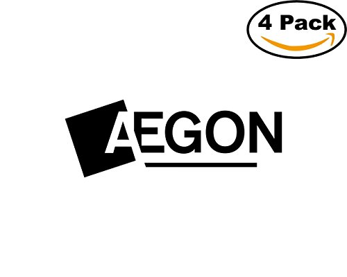 Aegon 2 4 Stickers 4X4 Inches Car Bumper Window Sticker Decal