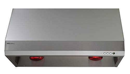 (Windster RA-35U48SS 700 CFM 48 Inch Wide Stainless Steel Under Cabinet Range Hood with LED Lighting and Baffle Filters from the RA-35)