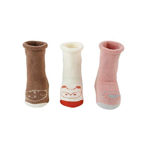 DEBAIJIA 3 Paar Dikke Sokken Baby'S Schattige Antislip Katoenen Sokken 1-3 Jaar Oude Jongens En Meisjes Kleurrijke Warme…