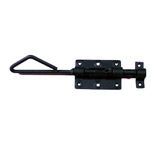 Wrought Iron Slide Bolt Black Rustproof Lock