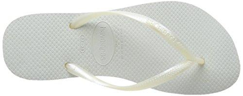Havaianas Slim, Chanclas Mujer Blanco (White 0001)