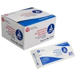 Dynarex - Conforming Bandage Dynarex Polyester 4 Inch X 4-1/10 Yard Roll Sterile - 96/Case - McK