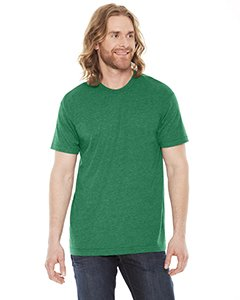 American Apparel BB401W Unisex Poly-Cotton Short-Sleeve Crewneck HTHR Vint Green M All American Rejects Apparel