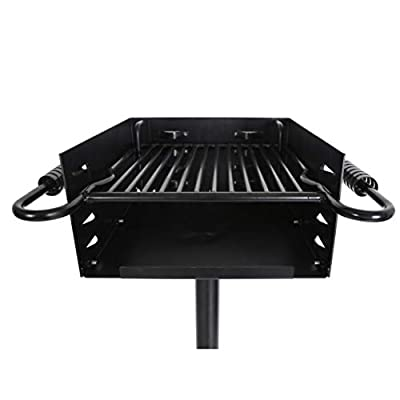 ECOTRIC Outdoor Park Style Grill Charcoal Grill BBQ Picnic Heavy Duty Cooking Camp