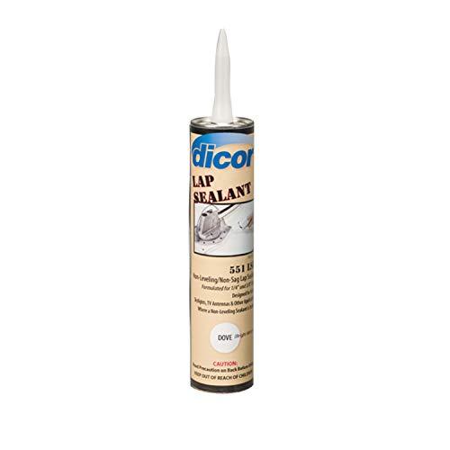 Dicor 551LSW1 White Non-Sag Roof Lap Sealant - 10.3 oz. Tube -