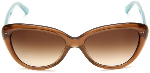 Kate Spade New York Women's Angeliq Cat-Eye Sunglasses, Tan/Brown Gradient, 55 mm