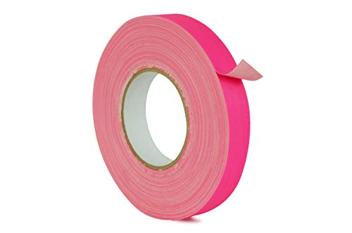 WOD CGT-80 Fluorescent Pink Gaffer Tape Low Gloss Finish Film, Residue Free, Non Reflective Gaffer, Better than Duct Tape (Available in Multiple Sizes & Colors): 1 in. X 60 Yards (Pack of 1) ()
