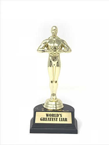 Aahs Engraving World's Best Award Trophy (World's Greatest Liar (7 inches)) ()