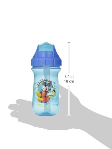 The First Years Baby Mickey Mouse Flip Top Straw Cup, 10 oz, 1 pack by The First Years (Image #3)