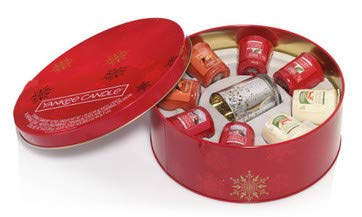 (Yankee Candle Gift Set of 8 Samplers in a Tin with Holder)