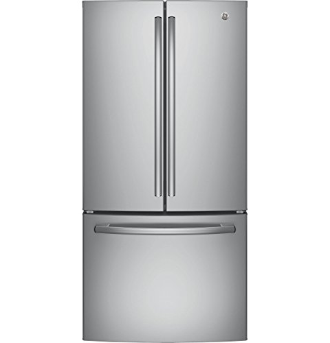 """GE GNE25JSKSS 33"""" Energy Star Qualified French-Door Refrigerator with 24.8 Cu. Ft. Capacity, in Stainless Steel"""