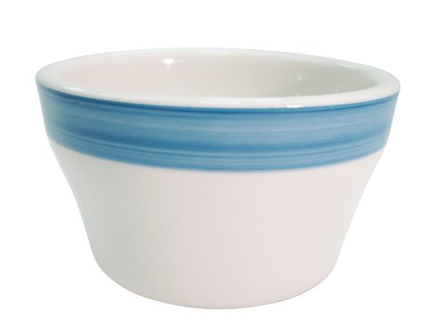 CAC China R-4-BLUE Rainbow 4-Inch Blue Stoneware Bouillon, 7.25-Ounce, Box of 36 by CAC China