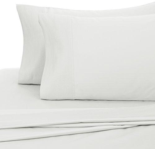 Pinzon 400-Thread-Count Pleated Hem Egyptian Cotton Sheet Set - Queen, Cloud