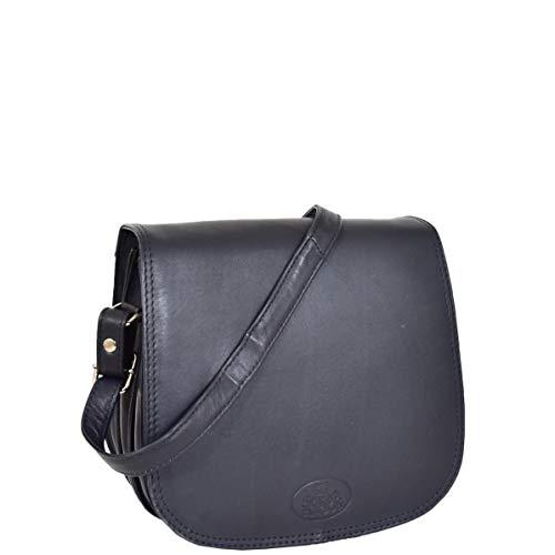 Blu Rfid Falda Donne Saddle Per Ella Oltre Leather Stile Of Pelle Corpo Croce House Borsa Messenger wfqXgZIxw