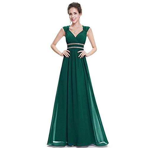 Dimensione colore Da Spalline Dark Abito Scollo Con Sera A Rosa Fengbingl Green Us4 Perline V FqPSgPw