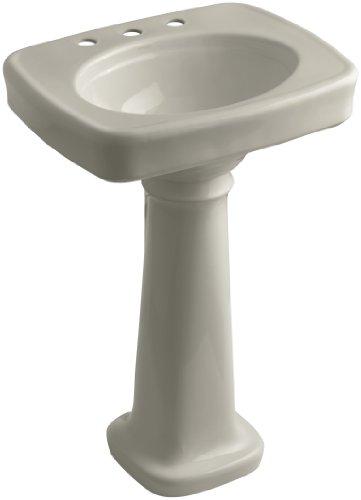 KOHLER K-2338-8-G9 Bancroft Pedestal Bathroom Sink with Centers for 8