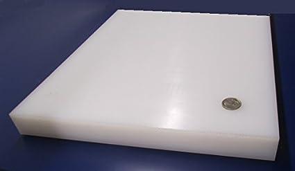 Opaque White 5 Width UHMW Rectangular Bar 3//4 Thickness 5 Length Standard Tolerance Ultra High Molecular Weight Polyethylene