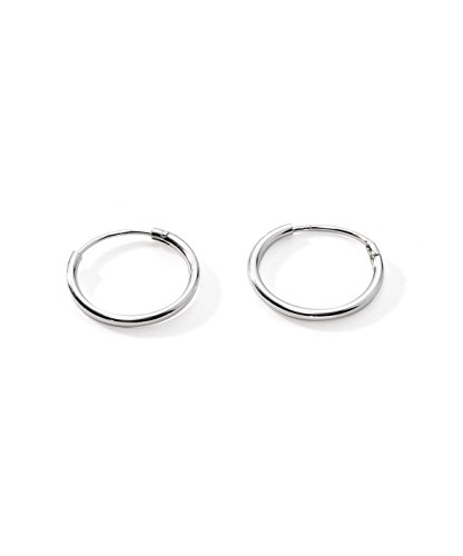 Regetta Jewelry Sterling Silver Small Endless Hoop Earrings, (Sterling Silver Small Endless Hoop)