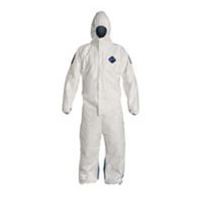 Hooded Tyvek(R), White/Blue, 4XL, PK25 by DuPont (Image #1)