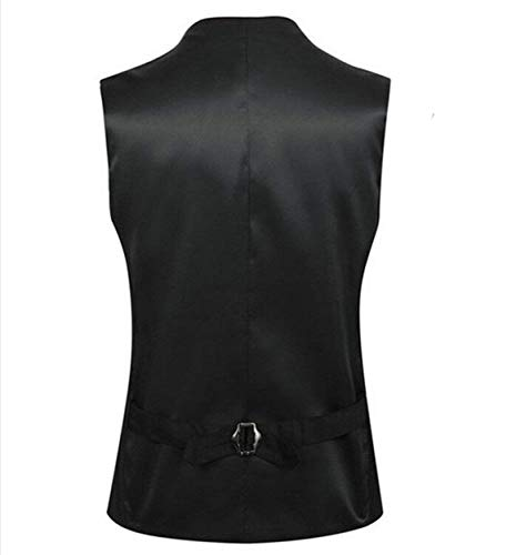 Giacca Neck Schwarz Tuxedo Gilet V Da Uomo Slim Business Fit PzIY4