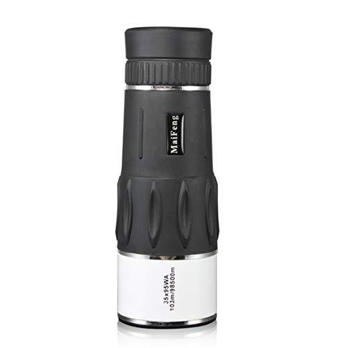 (NIHIHIP 35X95 Hunting Monocular Zoom HD Tele Travel Power Magnification Binoculars Bird Watching Spyglass White)