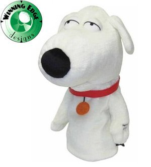 Family Guy Talking Brian 460cc Golf Headcover, Outdoor Stuffs