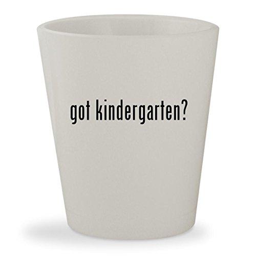 got kindergarten? - White Ceramic 1.5oz Shot - Glasses Singapore Reading