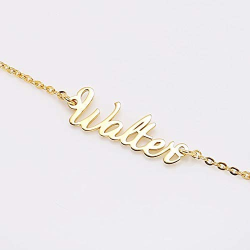2c5f13933 Image Unavailable. Image not available for. Color: Graceful Rings Gix  Minimalist Custom Name Gold Plated Necklace Cheap