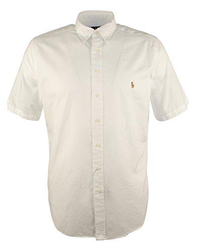 Ralph Lauren Men's Big & Tall Chambray Oxford Short Sleeve Shirt-W-XLT