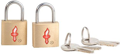 Brass Safe Skies TSA luggage locks 31a SS31a Safe Skies TSA Universal TSA-Approved Padlock Double Set