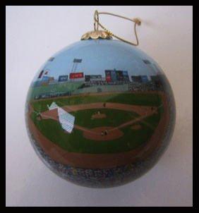 Sports Collectors Glass Ornament - Boston Baseball Field Green Monster Boston Glass Ornament