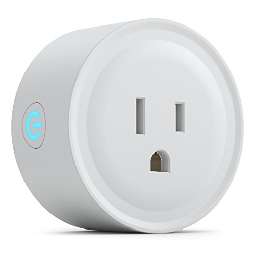 PowerBear Smart Plug [10A Rating] Wifi Plug | Voice and App Controlled Wi-Fi Mini Outlet | Amazon Alexa and Google Home Compatible [White]