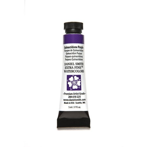 DANIEL SMITH 284610225 Extra Fine Watercolors Tube, 5ml, Quinacridone Purple