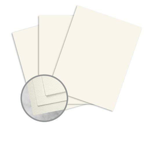 (CRANE'S LETTRA Pearl White Card Stock - 8 1/2 x 11 in 110 lb Cover Lettra 100% Cotton 125 per Package)