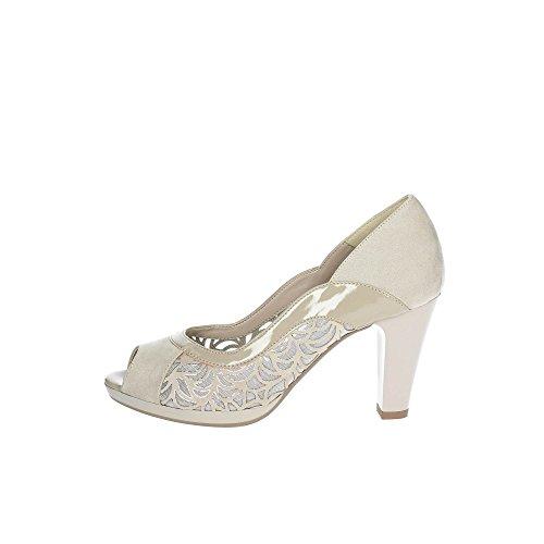 Cinzia Soft 12667 Zapatos con Punta Abierta Mujer Beige