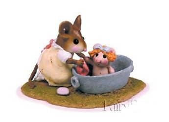 Wee Forest Folk M-301 - Rub-A-Dub-Dolly - Grey Tub