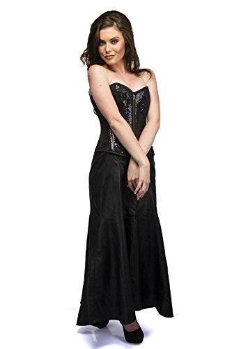 必要とするクランシー反対にBlack Satin Sequins Gothic Burlesque Waist Training Bustier Overbust Corset Top