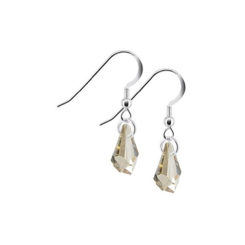(Gem Avenue 925 Sterling Silver Polygon Shape Swarovski Elements Yellow Crystal Handmade Drop Earrings for Women)