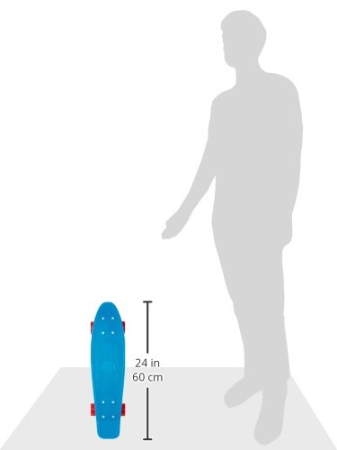 Penny Complete Skateboard (Cyan Deck/White Trucks/Red Wheels, 22-Inch)