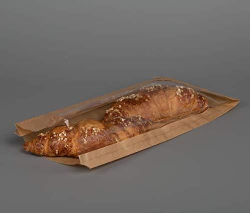 Bolsas de papel para alimentos con CELLOPHANE, color marrón ...